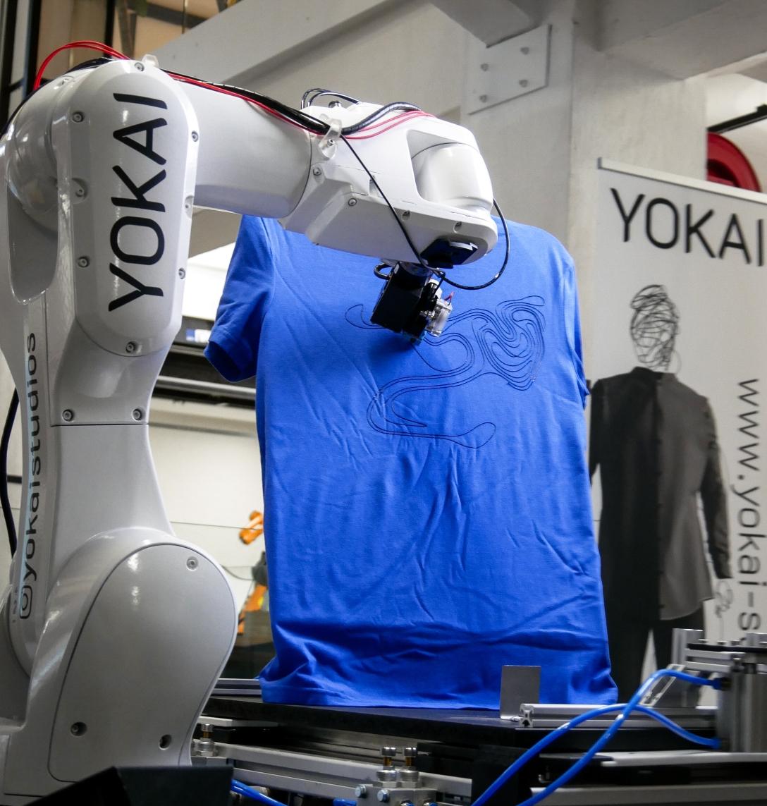 Printroboter, generativer Designcolde, Yoga Studios,